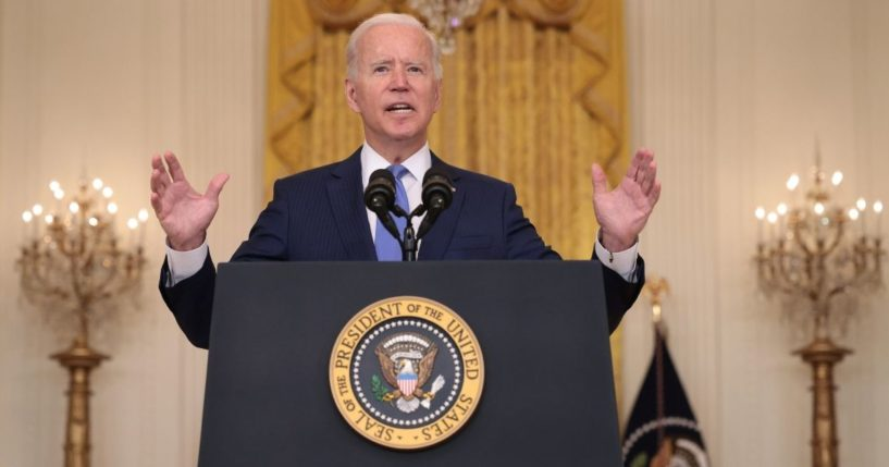 President Joe Biden spoke about Americans' financial struggles at an event Thursday at the White House.