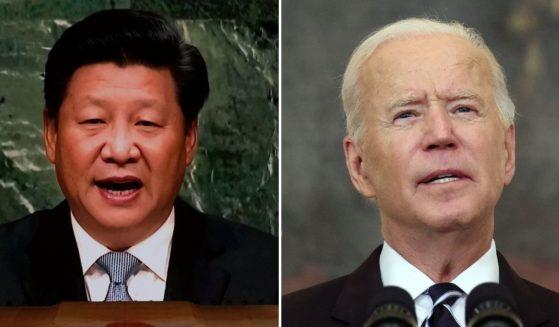 Chinese President Xi Jinping, left, and U.S. President Joe Biden spoke together this week.