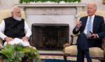 President Joe Biden, right, met Friday with Indian Prime Minister Narendra Modi in the Oval Office.