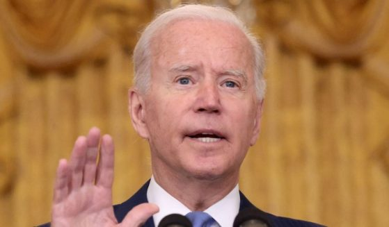 President Joe Biden speaks about the U.S. economy, taxes and the middle class Thursday at the White House.