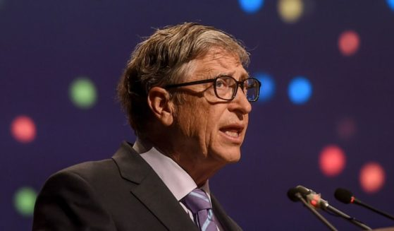 Billionaire Bill Gates is seen speaking at an agriculture conference in New Delhi on Nov. 18, 2019 in this file photo.