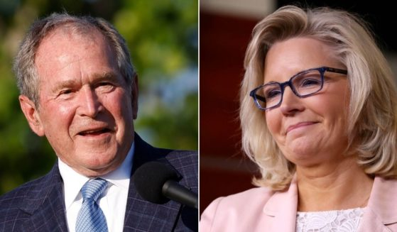 Former President George W. Bush, left, reportedly will help raise funds for the campaign to re-elect Wyoming Rep. Liz Cheney, right.