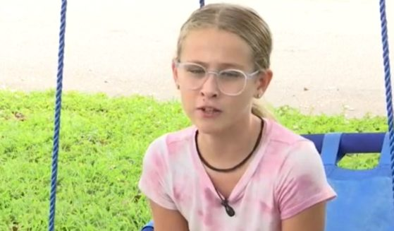 Eleven-year-old Mackenzie Jenkins of Cape Coral, Florida, talks about what happened on Sept. 4.