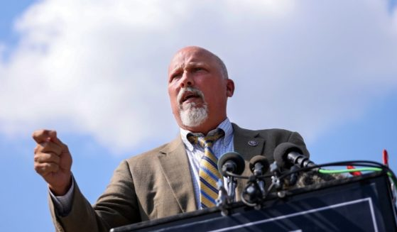 Rep. Chip Roy speaks during a news conference with fellow members of the House Freedom Caucus outside the U.S. Capitol on Aug. 23, 2021, in Washington, D.C.