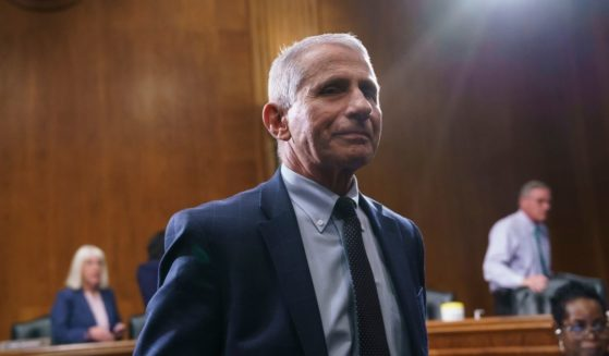 Dr. Anthony Fauci finishes his testimony before the Senate Health, Education, Labor, and Pensions Committee on July 20, 2021 in Washington, D.C.