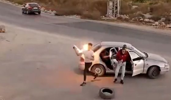 A would-be terrorist tries to throw a firebomb at a Jewish settlement in Gush Etzion, Israel.