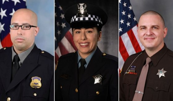 From left to right, Officer George Gonzalez of the Pentagon Force Protection Agency, Officer Ella French of the Chicago Police Department and Deputy Sheriff Ryan Proxmire of the Kalamazoo County, Michigan, Sheriff's Office were among the law enforcement officers who died in the line of duty in August.