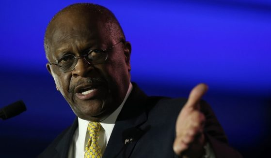 Herman Cain, former chairman and chief executive officer of Godfather's Pizza, speaks during the final day of the 2014 Republican Leadership Conference on May 31, 2014, in New Orleans.