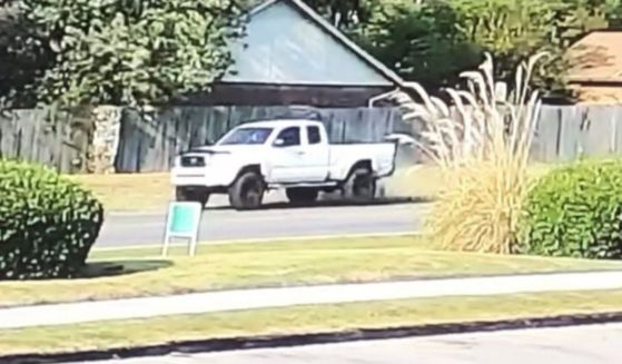 Police in Tulsa, Oklahoma, are seeking the driver of this white Toyota Tacoma in connection with a pedestrian hit-and-run accident that cost a young man his leg.