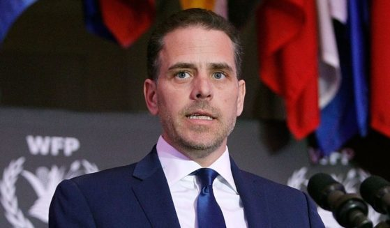Hunter Biden, then-chairman of World Food Program USA, speaks at the organization's annual McGovern-Dole Leadership Award Ceremony at the Organization of American States on April 12, 2016, in Washington, D.C.