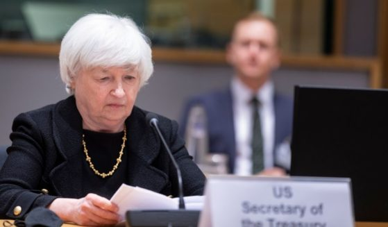 U.S. Secretary of the Treasury Janet Yellen attends an inclusive Eurogroup Ministers meeting in the Europa building on July 12, 2021, in Brussels, Belgium.