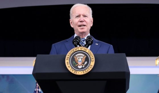 President Joe Biden delivers remarks in the South Court Auditorium in the White House on Monday in Washington, D.C.