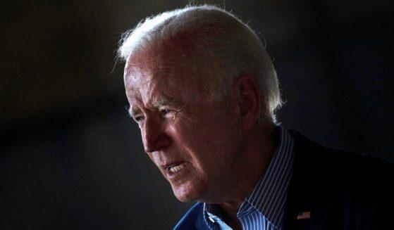 President Joe Biden speaks at Sacramento Mather Airport in Mather, California, on Monday.