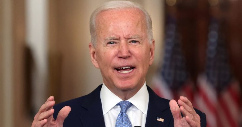 President Joe Biden delivers remarks on the end of the War in Afghanistan at the White House on Tuesday.