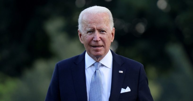 President Joe Biden walks to Marine One for a departure from the South Lawn of the White House on July 28, 2021.
