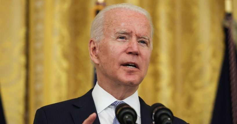 President Joe Biden delivers remarks at the White House on July 29, 2021, in Washington, D.C.
