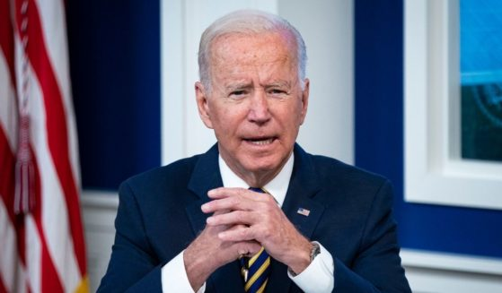 Joe Biden speaks during a conference call on climate change with the Major Economies Forum on Energy and Climate at the Eisenhower Executive Office Building on Friday in Washington, D.C.