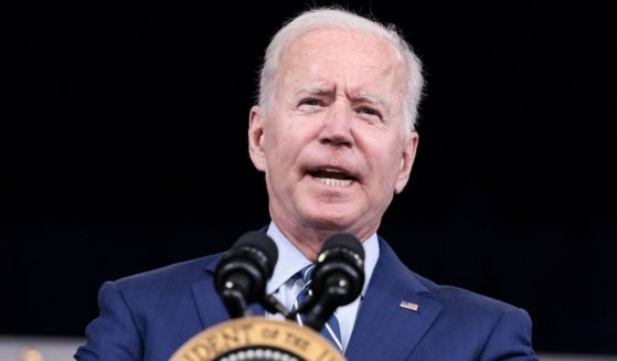President Joe Biden delivers remarks ahead of receiving a third dose of the Pfizer-BioNTech Covid-19 vaccine at the White House on Monday in Washington, D.C.
