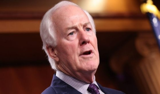 Republican Sen. John Cornyn of Texas speaks on a proposed Democratic tax plan at the U.S. Capitol on Aug. 4, 2021.