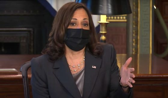 Vice President Kamala Harris speaks during a roundtable about abortion rights on Thursday.
