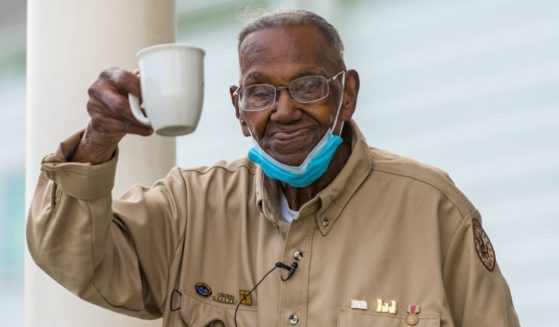 Lawrence Brooks, the oldest known living World War II veteran, celebrates his 112th birthday in New Orleans.