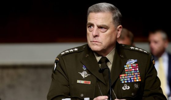 Chairman of the Joint Chiefs of Staff Gen. Mark Milley listens before a hearing with the Senate Armed Services Committee on Capitol Hill on June 10, 2021, in Washington, D.C.