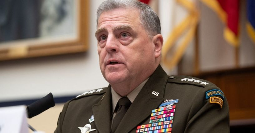 Gen. Mark Milley, chairman of the Joint Chiefs of Staff, testifies during a House Armed Services Committee hearing on Capitol Hill in Washington, D.C., on June 23, 2021.