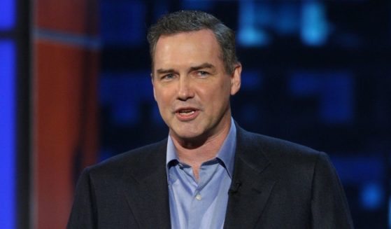Late comedian Norm Macdonald speaks on stage at the Comedy Central Roast of Bob Saget on Aug. 3, 2008 in Burbank, California.