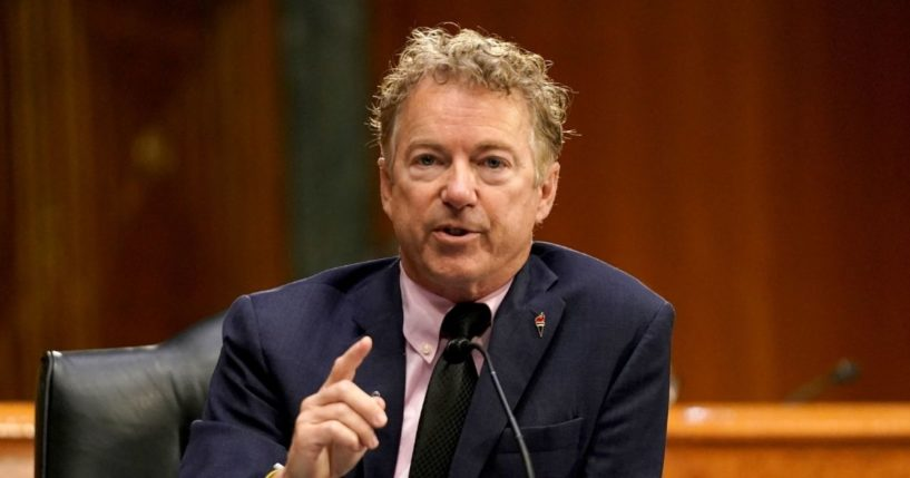 Republican Sen. Rand Paul of Kentucky speaks during a Senate Health, Education, Labor and Pensions Committee hearing on May 11, 2021 at the U.S. Capitol in Washington, D.C.