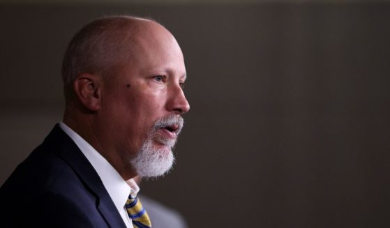 Texas Republican Rep. Chip Roy speaks critically of the National Defense Authorization Act during a news conference Wednesday. Roy voted against the bill on Thursday.