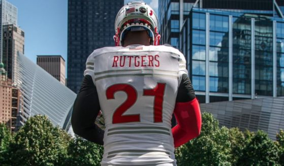 Rutgers University has unveiled special uniforms honoring the 37 Rutgers alumni and all who lost their lives in the September 11, 2001 terrorist attacks