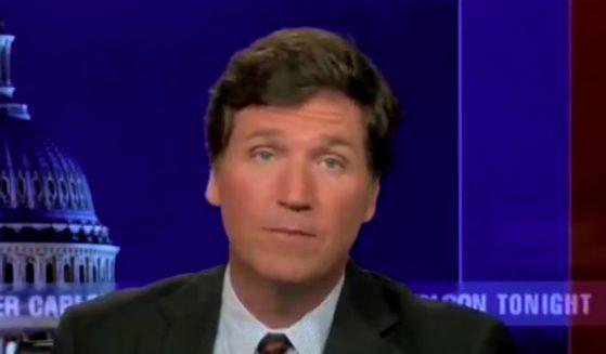 Fox News host Tucker Carlson speaks on his show on Monday.