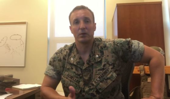 Lt. Col. Stuart Scheller posts a video on Facebook expressing his disappointment with military leadership on Thursday.