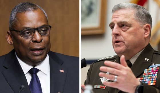 Defense Secretary Lloyd Austin, left; and Joint Chiefs of Staff Chairman Gen. Mark Milley, right.