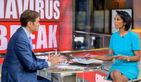Dr. Oz appears with host Harris Faulkner at Fox News Channel studios in New York City on March 9, 2020.
