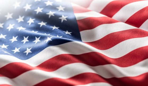 The American flag is depicted in this stock photo.