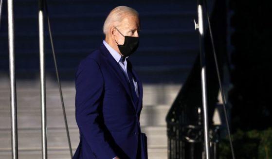 President Joe Biden is seen leaving the White House in Washington, D.C., on Friday.