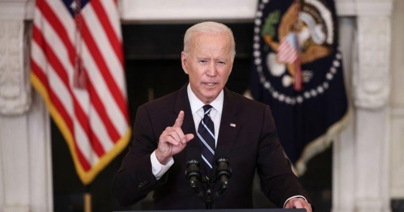 President Joe Biden, pictured speaking in the White House on Thursday.