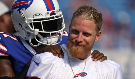 Buffalo Bills wide receiver Cole Beasley, pictured in a file photo from August.