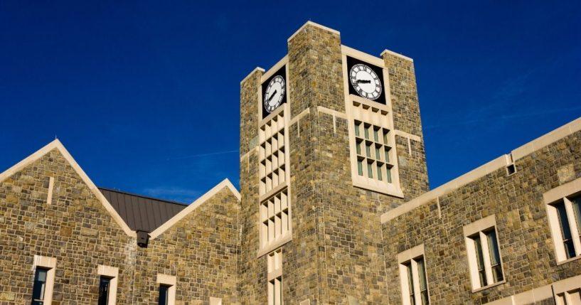The Holtzman Alumni Center on the Virginia Tech campus in Blacksburg, Virginia, is seen in this stock image.