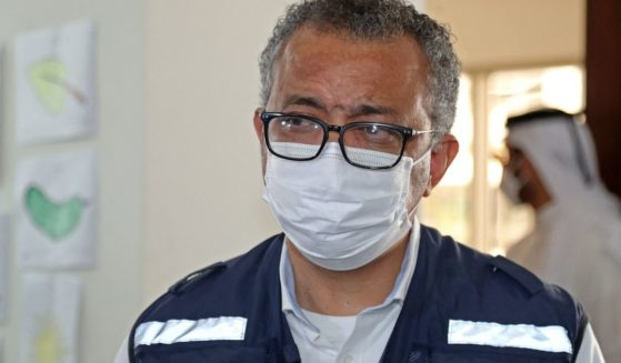World Health Organization chief Dr. Tedros Adhanom Ghebreyesus visits Qatar on Sept. 19, 2021.