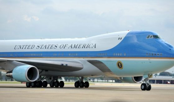 The current version of AIr Force One is pictured in a 2018 file photo from Bangkok, Thailand.