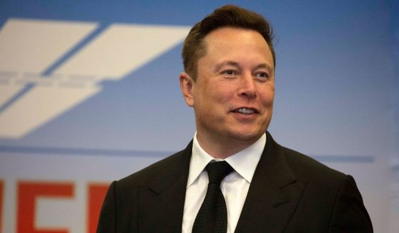 Elon Musk is seen at a news conference at the Kennedy Space Center in Cape Canaveral, Florida, on May 27, 2020.