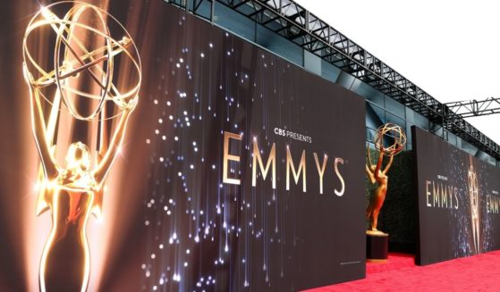 An exterior of the L.A. LIVE venue that hosted the 73rd Primetime Emmy Awards in Los Angeles on Sunday.