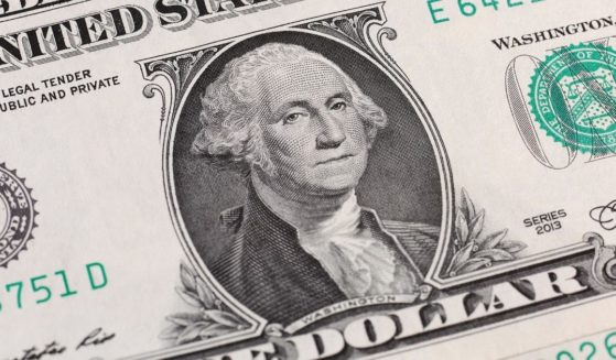 A U.S. dollar bill is depicted in this stock photo.