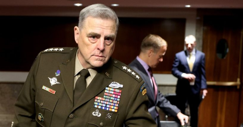 Army Gen. Mark Milley, chairman of the Joint Chiefs of Staff, is pictured in file photo from aSenate Armed Services Committee hearing in June.