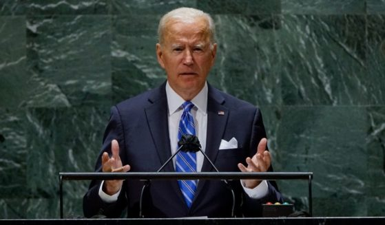 President Joe Biden addresses the 76th Session of the United Nations General Assembly on Tuesday.