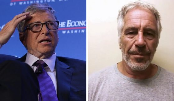 """Microsoft co-founder Bill Gates, left, pictured in a 2019 file photo, didn't have an easy time explaining his relationship with now-deceased sexual predator Jeffrey Epstein during a """"PBS NewsHour"""" interview Tuesday."""