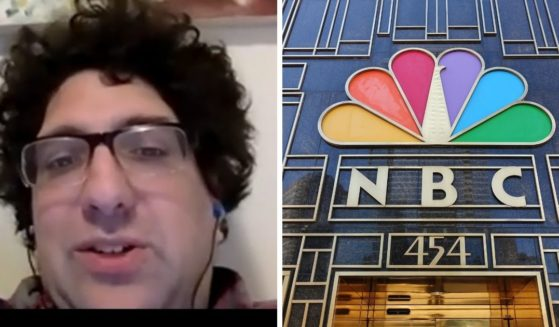 Noah Berlatsky, an NBC contributor, left; and the NBC building in New York, right.
