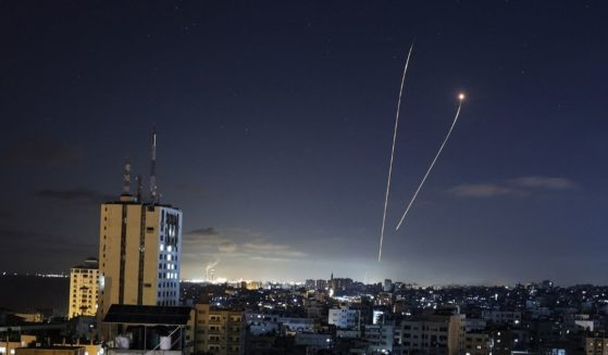 Israel's Iron Dome defense system intercepts rockets from the Gaza Strip on May, 18.